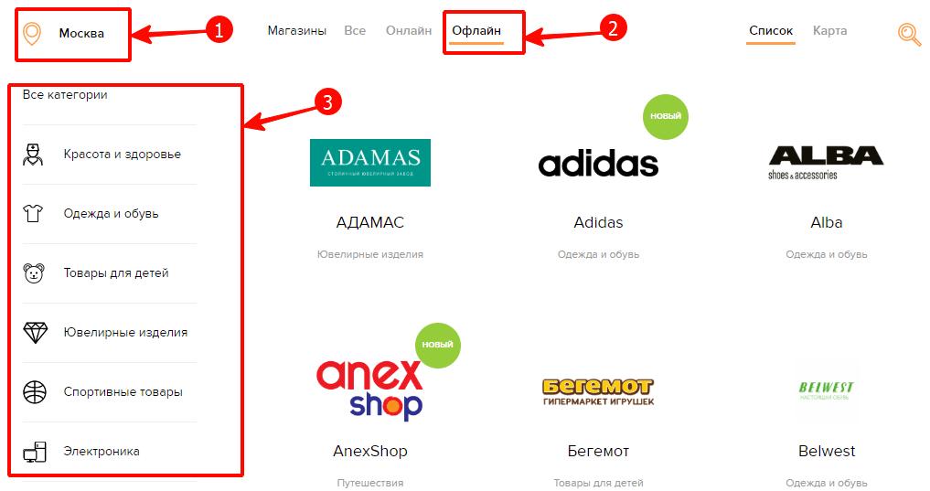 Магазины-партнеры Рево
